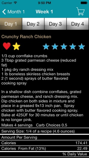 Screenshot My Family Meal Planner Light on iPhone