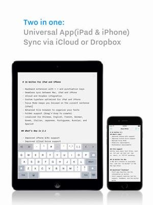 Screenshot iA Writer on iPad