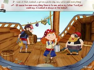 Screenshot Alizay, pirate girl on iPad