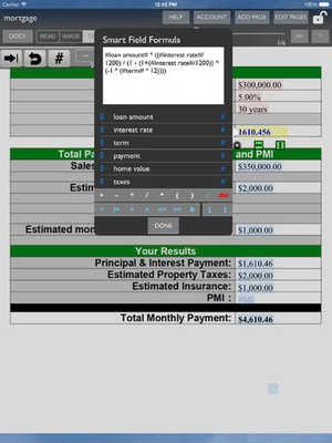 Screenshot Smart Forms on iPad