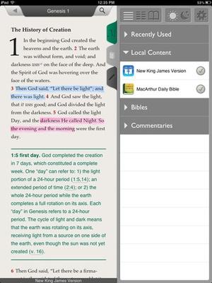 Screenshot MacArthur Daily Bible on iPad