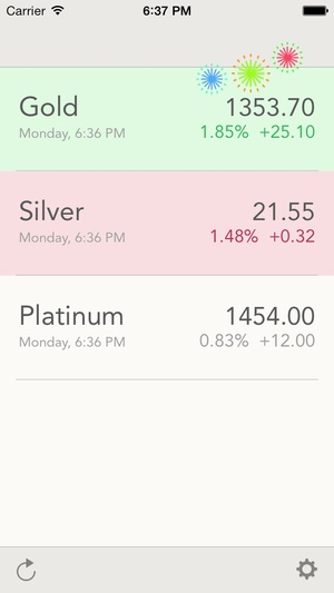 Screenshot iGold on iPhone