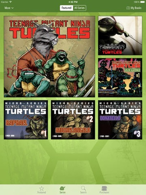 Screenshot TMNT Comics on iPad