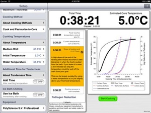 Screenshot PolyScience Sous Vide Toolbox on iPad