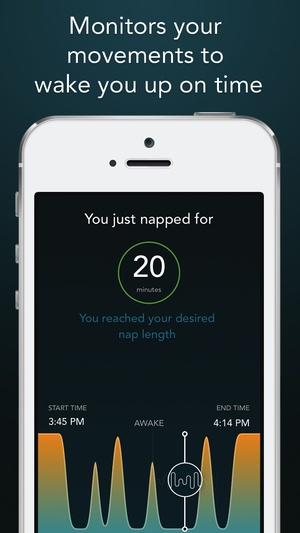 Screenshot Power Nap HQ: perfect length naps with sleep cycle tracking, graphs & sound recorder on iPhone