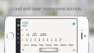 Screenshot Cadenza: Chromatic Tuner and Metronome for Guitar, Bass, Violin, Cello, Clarinet, Flute, Trumpet and More on iPhone