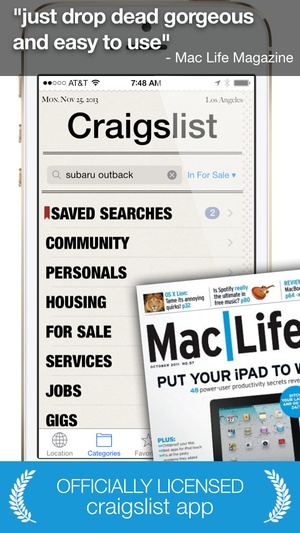 Screenshot Daily, an app for Craigslist (Universal Version) on iPhone