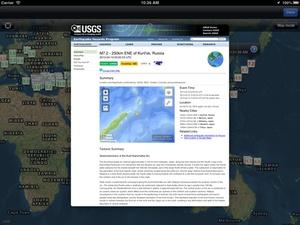 Screenshot iEarthquake Lite on iPad