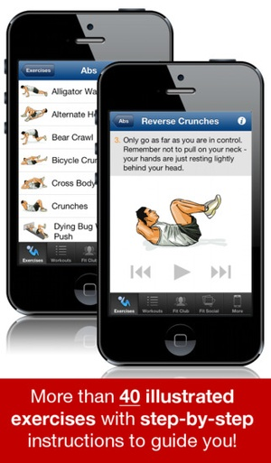 Screenshot Ab Workouts Pro on iPhone