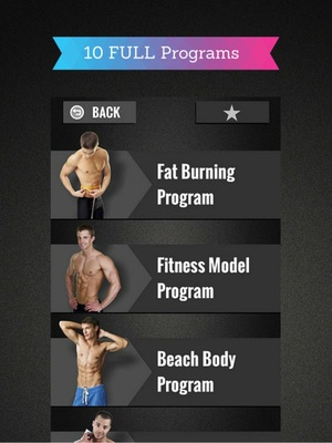 Screenshot Gym Workout Programs on iPad