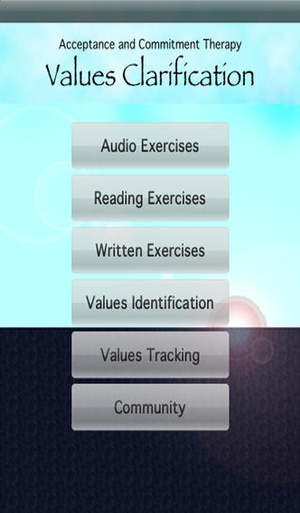 Screenshot ACT: Values on iPhone