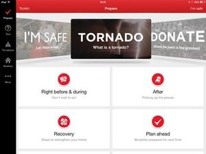 Screenshot Tornado by American Red Cross on iPad