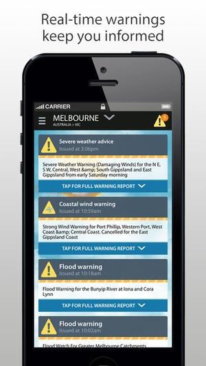 Screenshot Weatherzone Plus on iPhone
