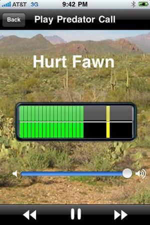 Screenshot Predator Hunting Calls on iPhone