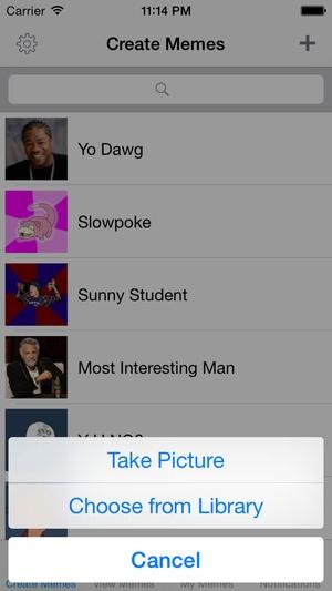 Screenshot Meme Creator/Viewer on iPhone