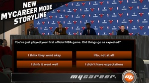 Screenshot NBA 2K15 on iPhone