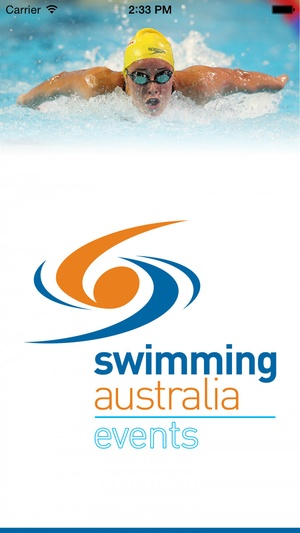Screenshot Swimming Australia Events on iPhone