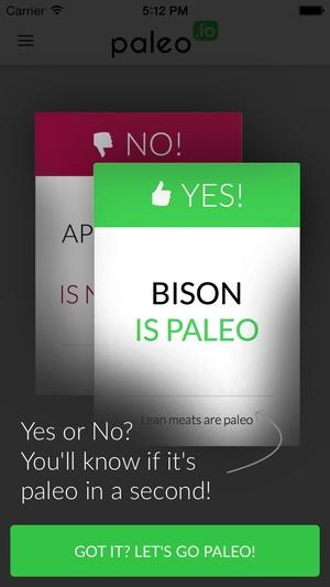 Screenshot Paleo (io) on iPhone