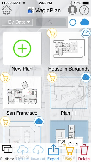Screenshot MagicPlan CSI on iPhone