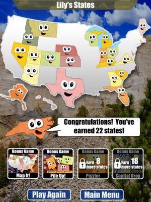 Screenshot Stack the States™ on iPad