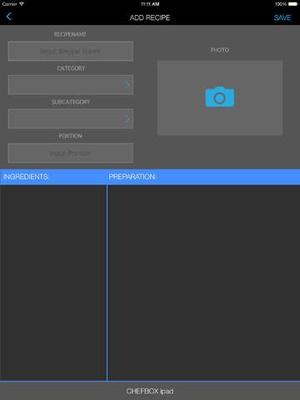 Screenshot CHEFBOX on iPad