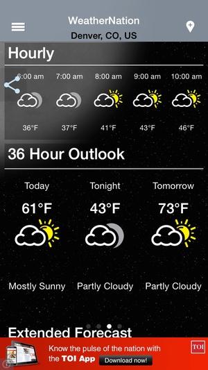 Screenshot WeatherNation Free on iPhone