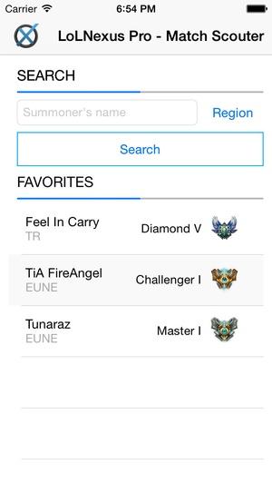 Screenshot LoLNexus Pro on iPhone