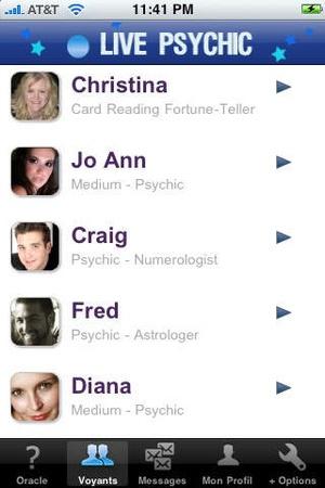 Screenshot Live Psychic on iPhone