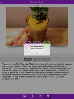 Screenshot Healthy Juice Recipes on iPad