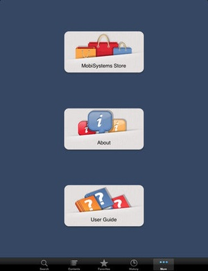 Screenshot Concise Oxford English Dictionary & Thesaurus on iPad