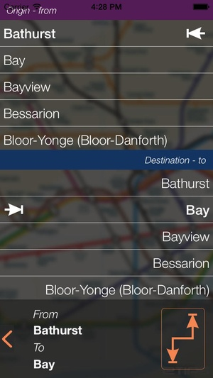 Screenshot Toronto Travel Guide with Offline City Street and Metro Maps on iPhone