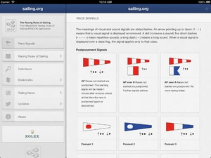 Screenshot ISAF Racing Rules of Sailing 2013 on iPad