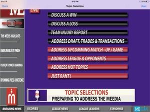 Screenshot Meedia on iPad