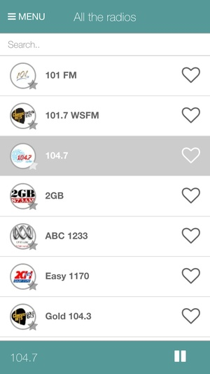 Screenshot Radio Australia Free, the best radios in just one click on iPhone