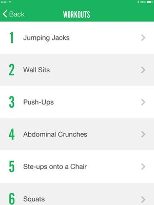 Screenshot 7 Minute Fitness on iPad