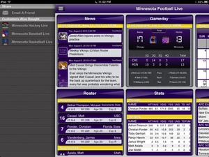 Screenshot Minnesota Football Live on iPad