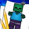 Step by Step Draw Lego Minecraft Version