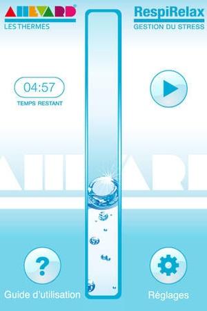 Screenshot RespiRelax on iPhone