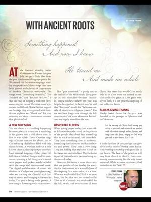 Screenshot Worship Leader Magazine on iPad