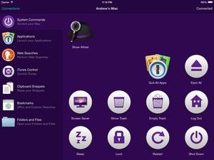 Screenshot Alfred Remote on iPad