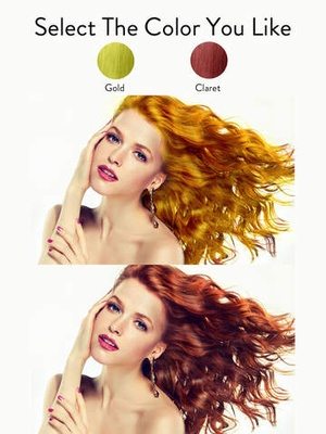 Screenshot Hair Color Effects on iPad