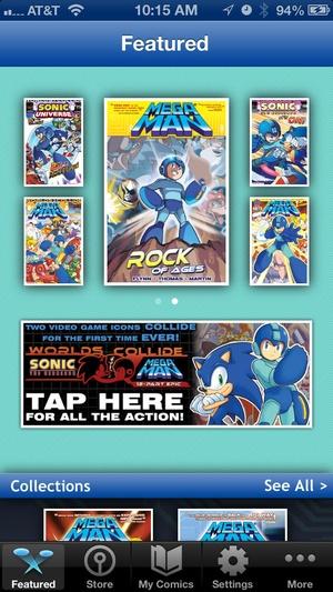 Screenshot Mega Man Comics on iPhone