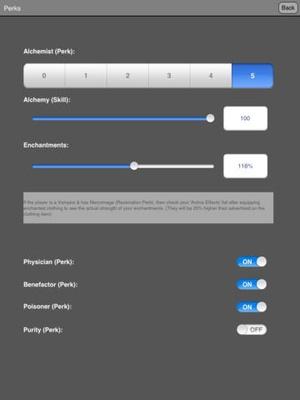 Screenshot Alchemy in Skyrim ® on iPad