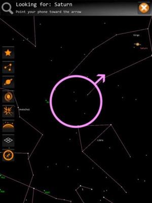 Screenshot Sky Map on iPad