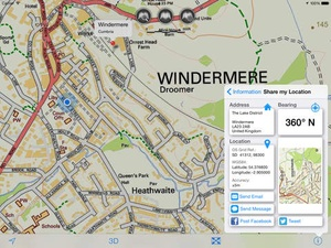 Screenshot Lake District Maps Offline on iPad