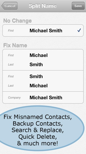 Screenshot ContactClean Pro on iPhone