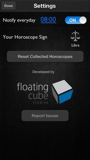Screenshot Horoscopes on iPhone
