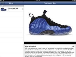 Screenshot Foams on iPad