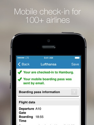 Screenshot Boarding Pass on iPad