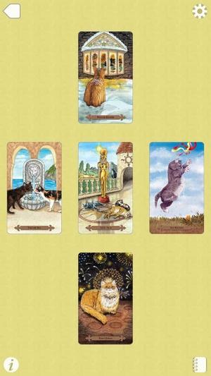 Screenshot Mystical Cats Tarot on iPhone